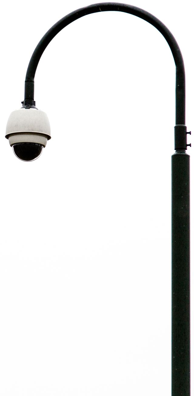 Security CCTV lampost